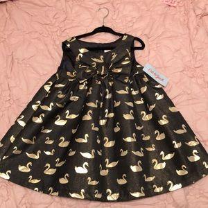 Toddler swann dress